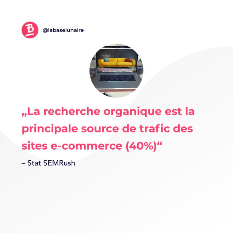 La recherche organique est la principale source de trafic des sites e-commerce (40 %)