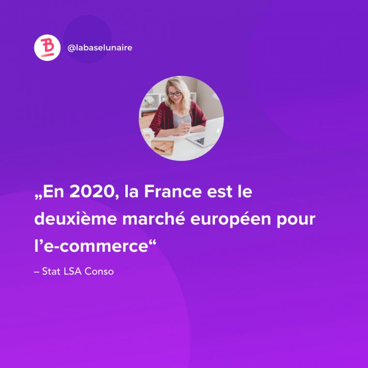La France est en 2020 le deuxième marché européen pour l'e-commerce