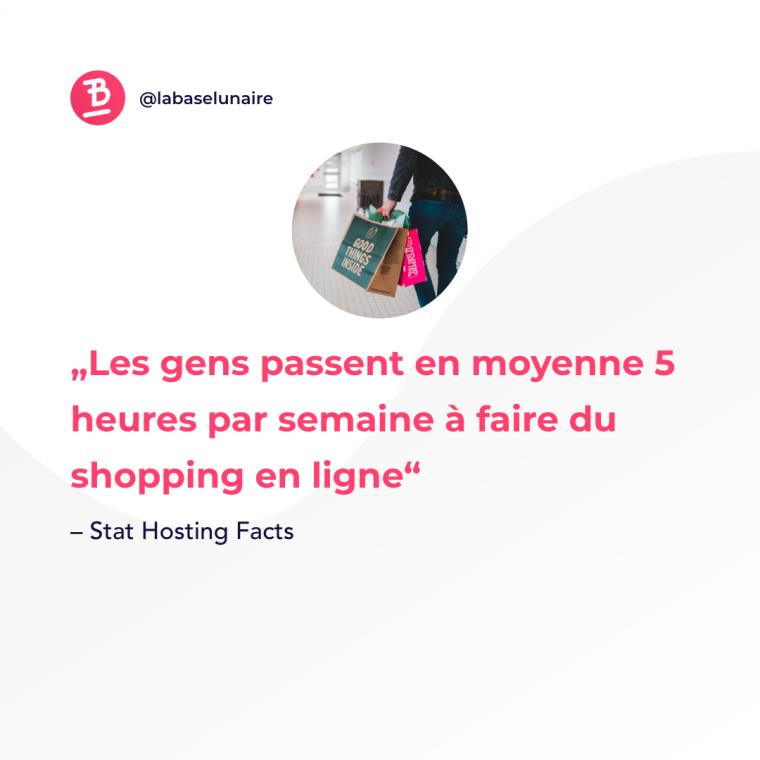 Les gens passent en moyenne 5 heures par semaine à faire du shopping en ligne