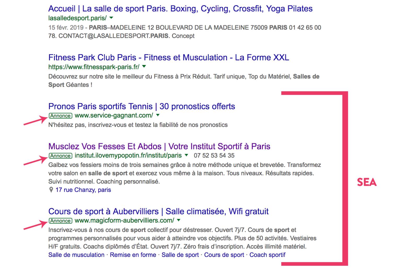 Annonces Google Adwords en bas de pages des résultats de recherche