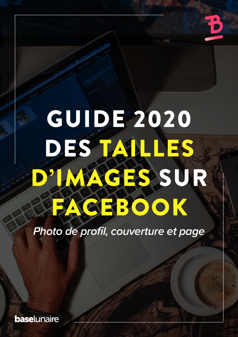 """Image de présentation avec comme titre """"Guide 2020 des tailles d'images sur Facebook"""""""