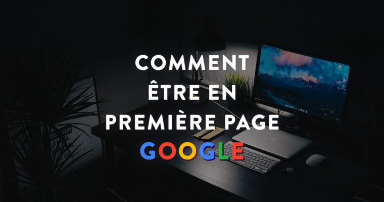 """Cover Facebook """"Comment être en première page Google"""""""