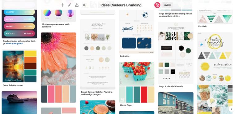 Épingles du tableau Idées couleur Branding sur Pinterest