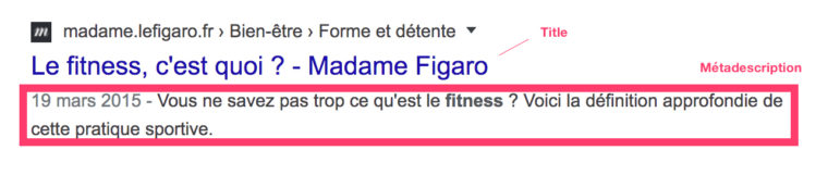 Métadescription d'un article en rapport avec le fitness