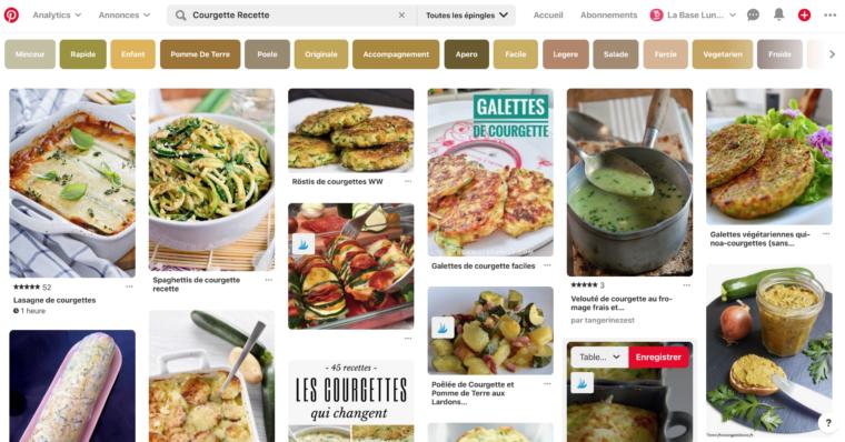 Résultats de recherche dans Pinterest pour recette courgette