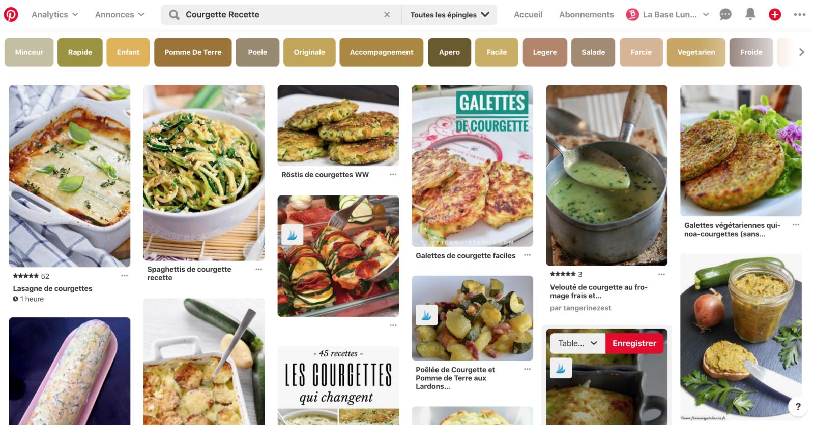 Résultats de recherche dans Pinterest pour recettes courgettes