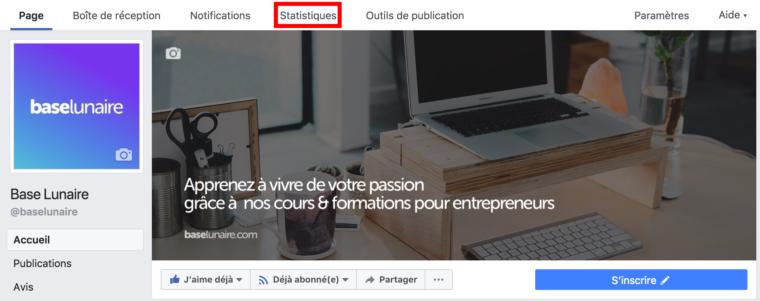 Trouver les statistiques d'une page Facebook