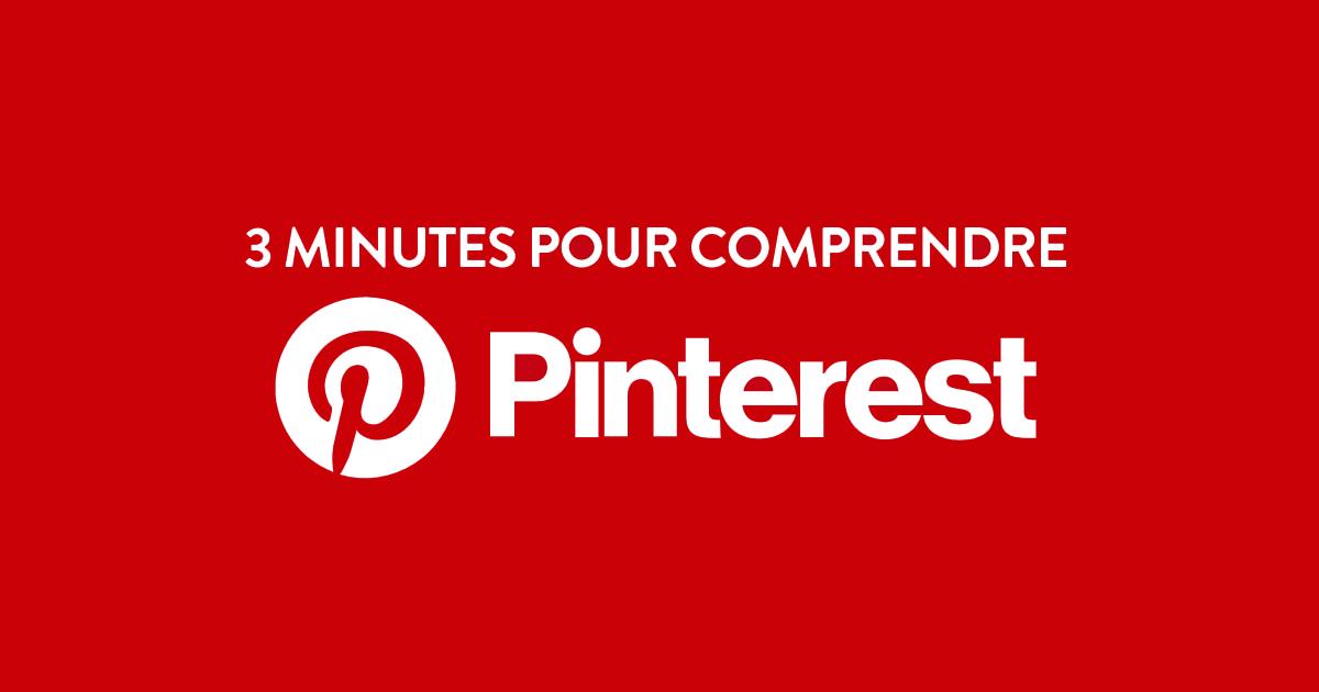 Couverture Facebook marqué 3 minutes pour comprendre Pinterest