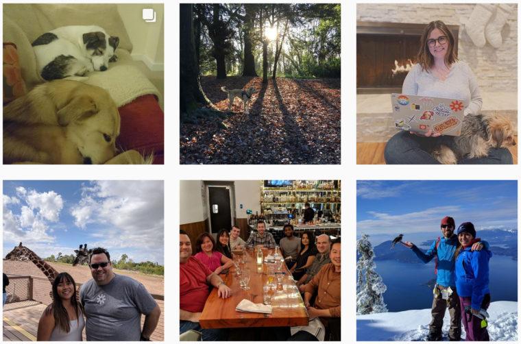 Capture d'écran partielle du compte Instagram de Zapier