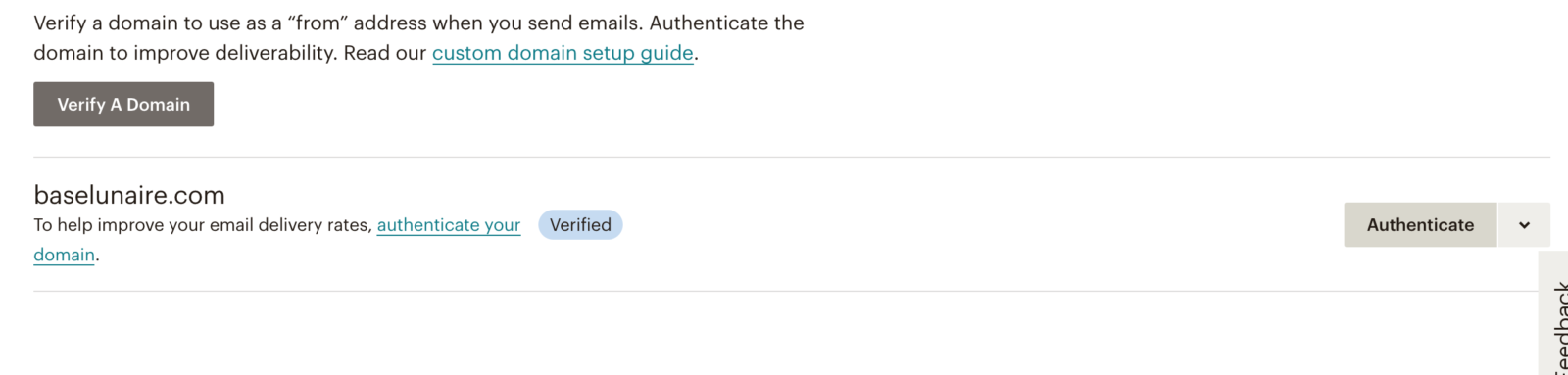 Obtenir sa clé dkim sur mailchimp