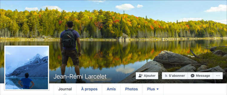 Ensemble photo de profil et image de couverture Facebook de Jean-Rémi Larcelet-Prost